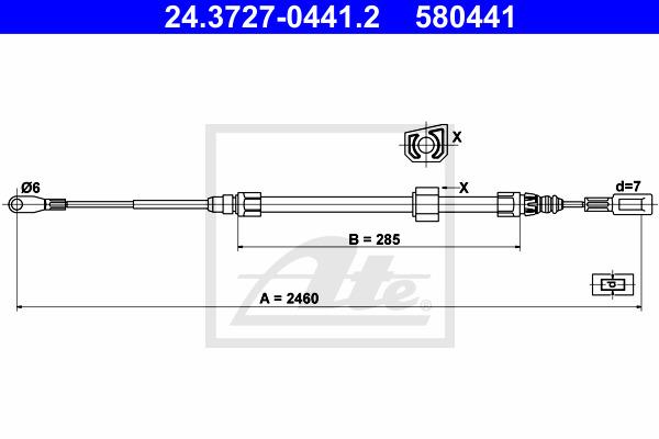 Käsijarruvaijeri ATE 24.3727-0441.2