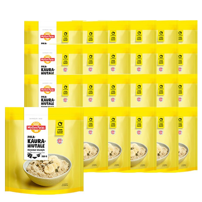 Annoskaurapuuro Banaani & Vanilja 24kpl - 38% alennus