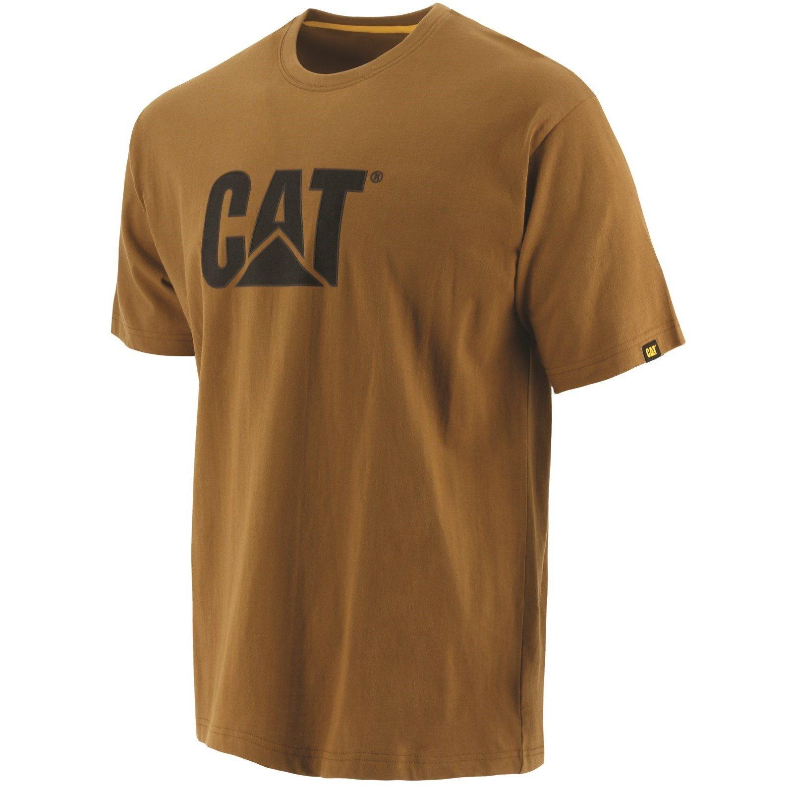 Caterpillar Men's Trademark Logo T-Shirt Various Colours 25301-42086 - Bronze XX