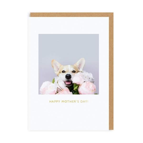 Mother's Day Corgi Greeting Card