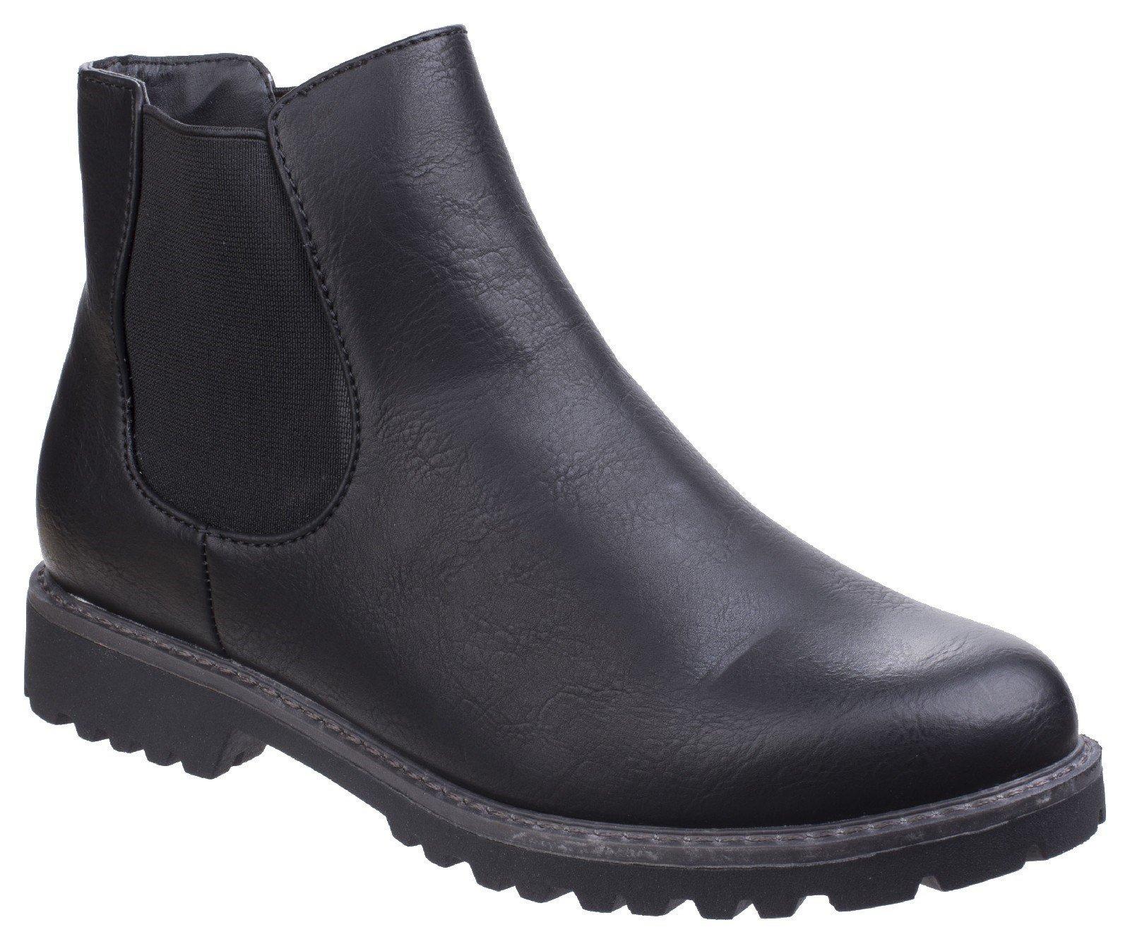 Divaz Women's Grace Ladies Chelsea Boot Black 25571-42565 - Black 3
