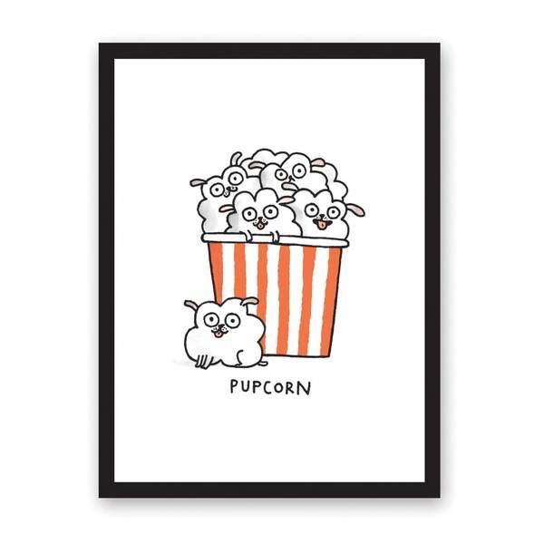 Pupcorn Riso Print