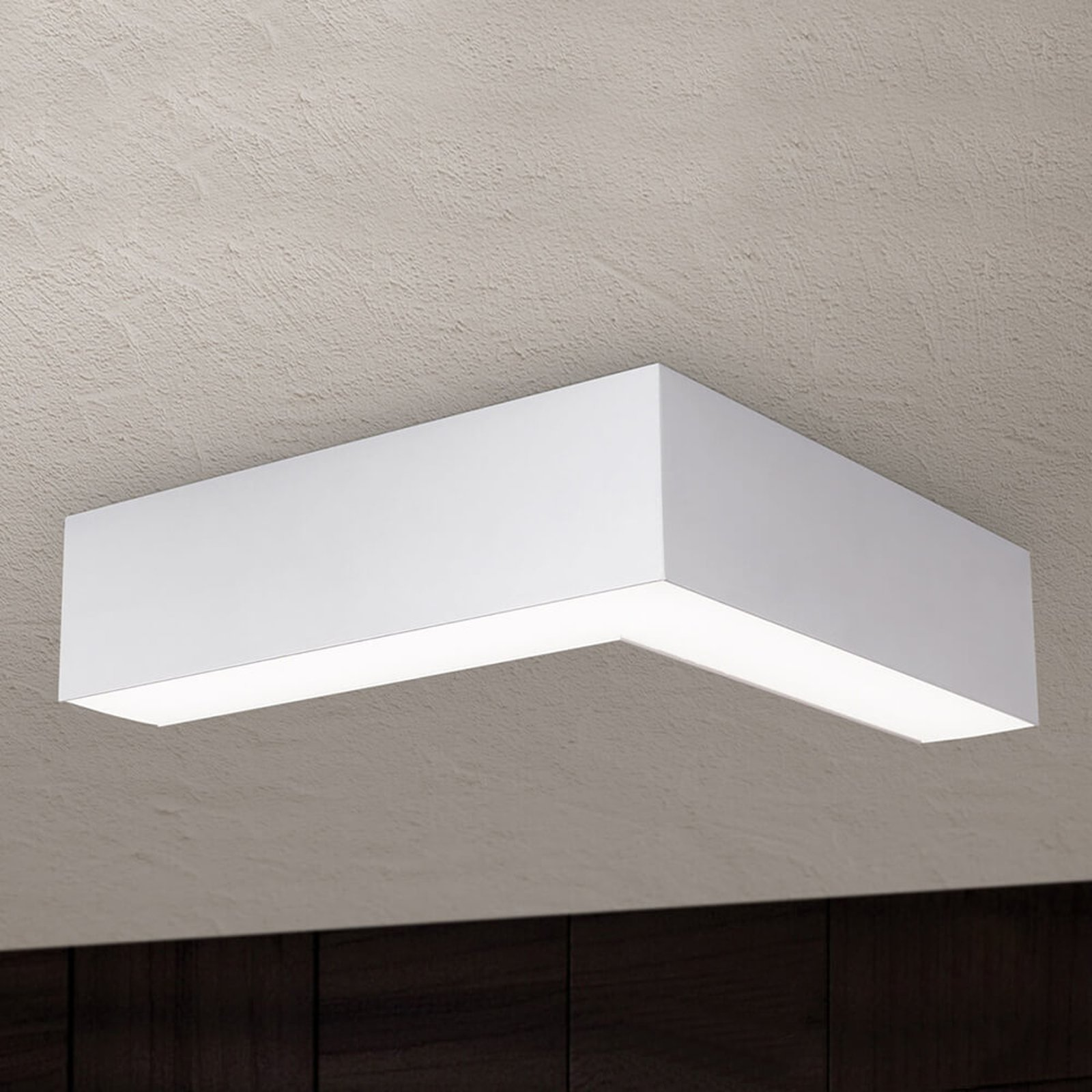 LED-taklampe Sando med opphengssett - 30 x 30 cm