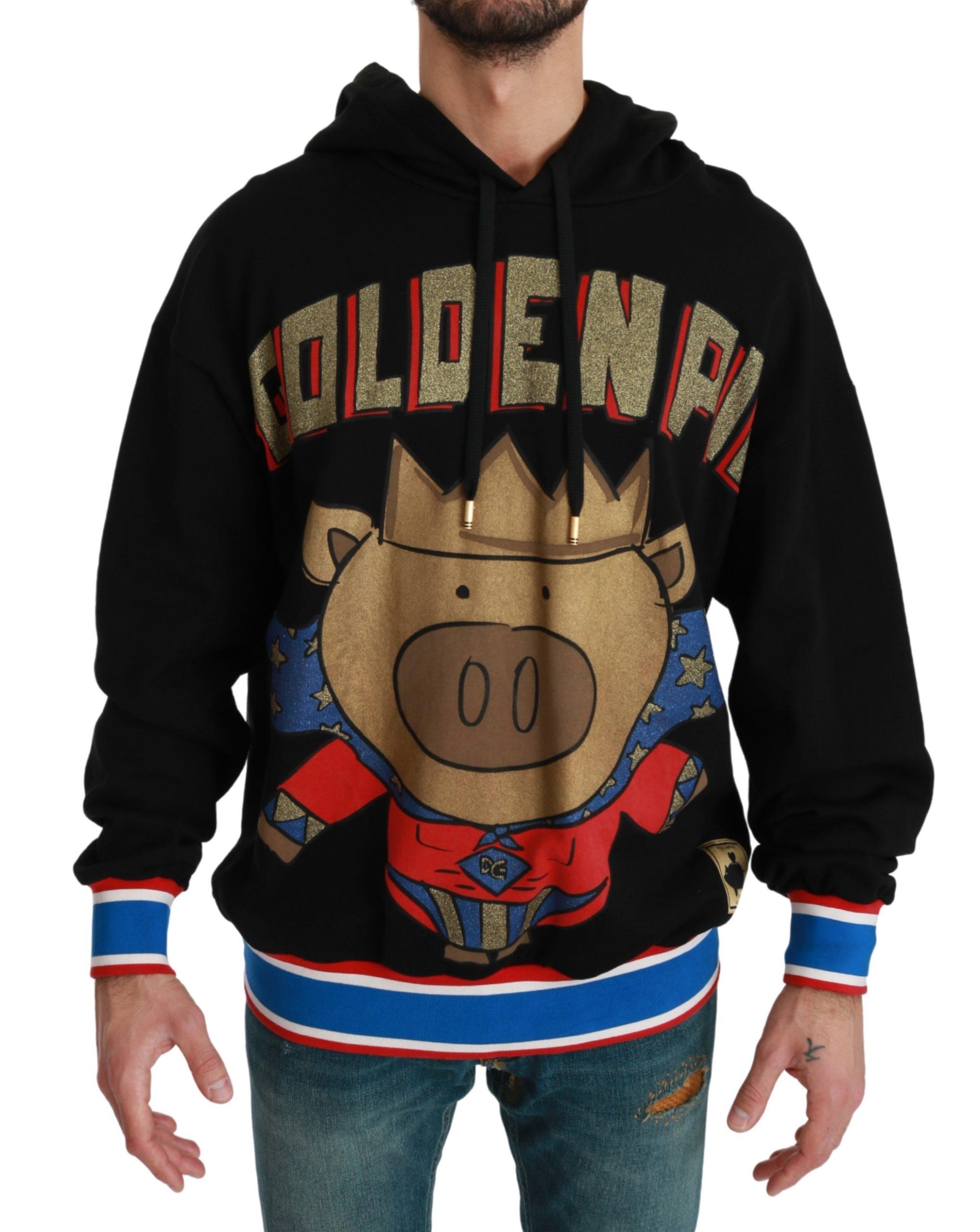 Dolce & Gabbana Men's Sweater Pig of the Year Sweater Black TSH4613 - IT44 | XS
