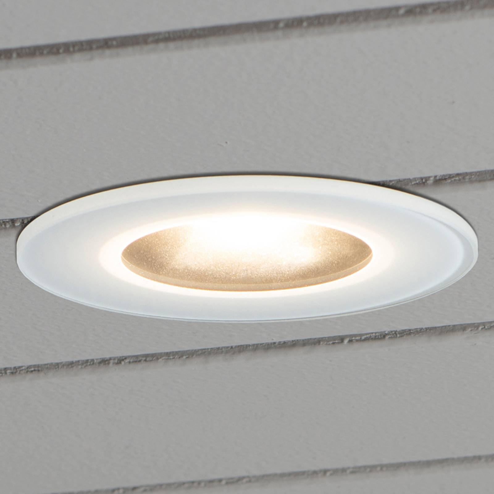 LED-downlight 7875 tak utendørs, hvit