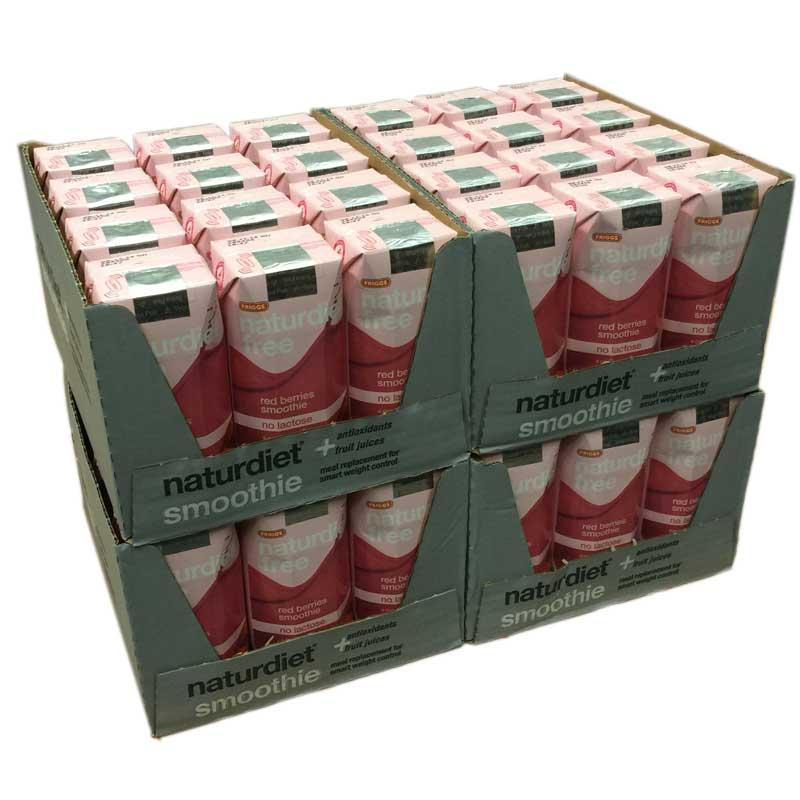 48pack Naturdiet red berries smoothie - 81% rabatt