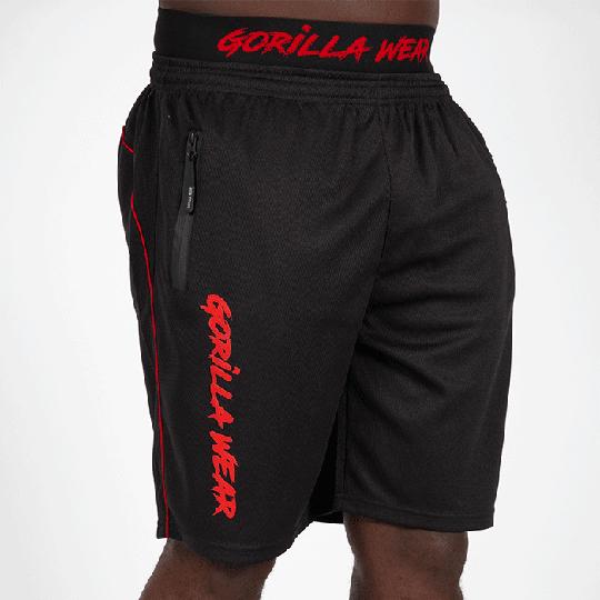 Mercury Mesh Shorts, Black/Red