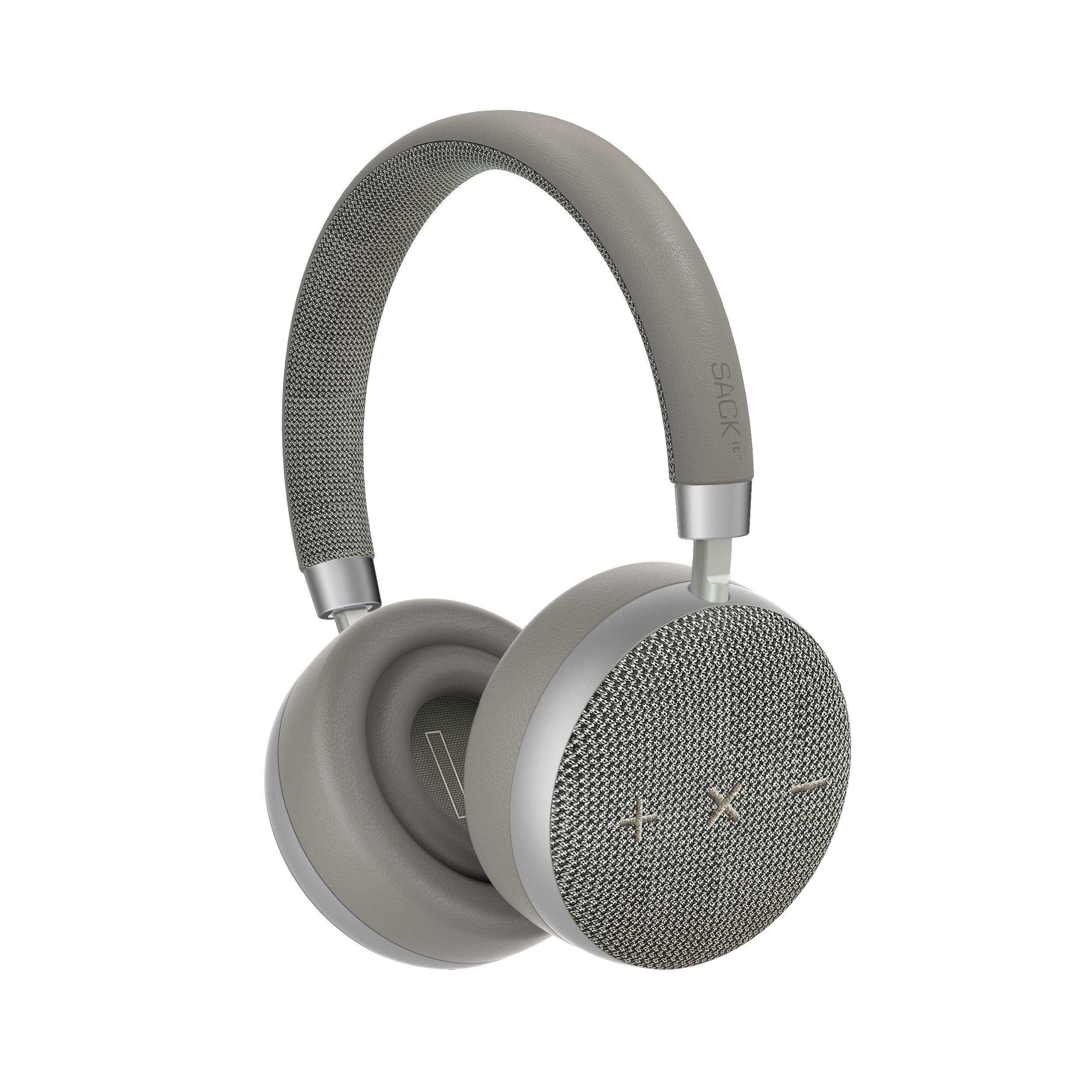 SACKit - TOUCHit S On-Ear Headphones - Silver