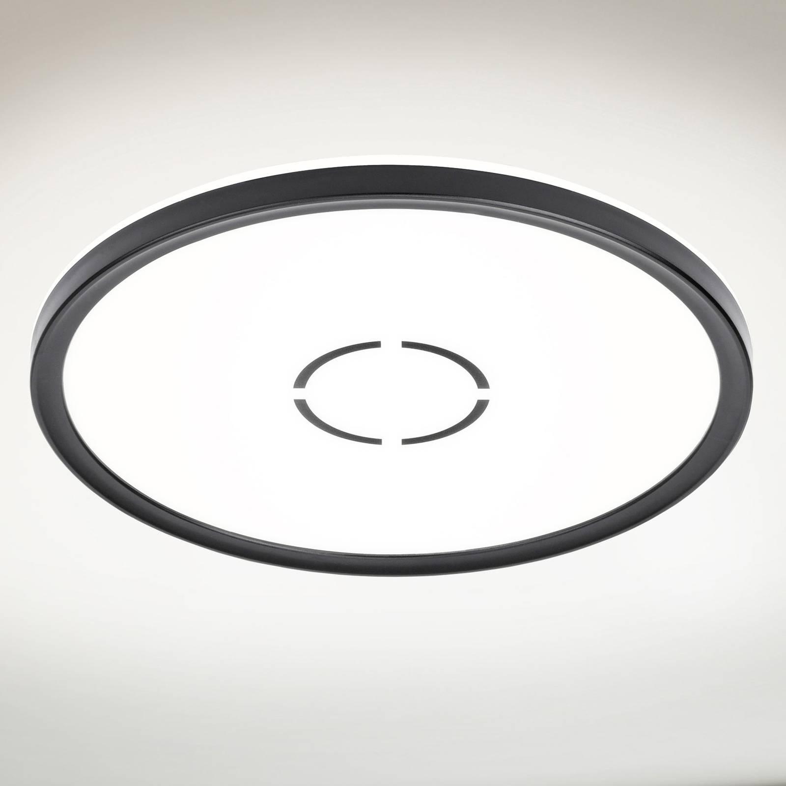 LED-kattovalaisin Free, Ø 29 cm, musta