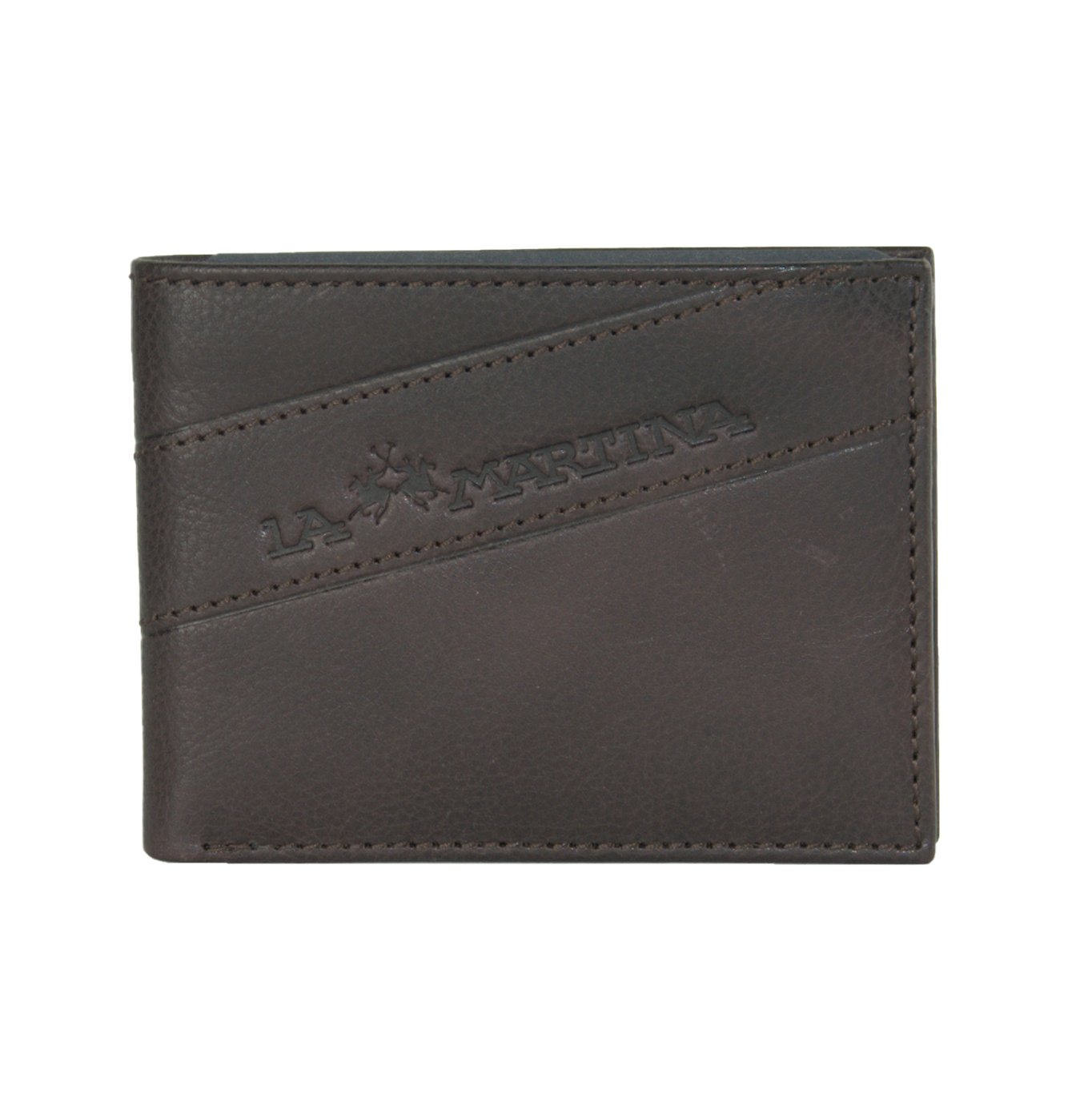 La Martina Men's Wallet Dark Brown LA1432649