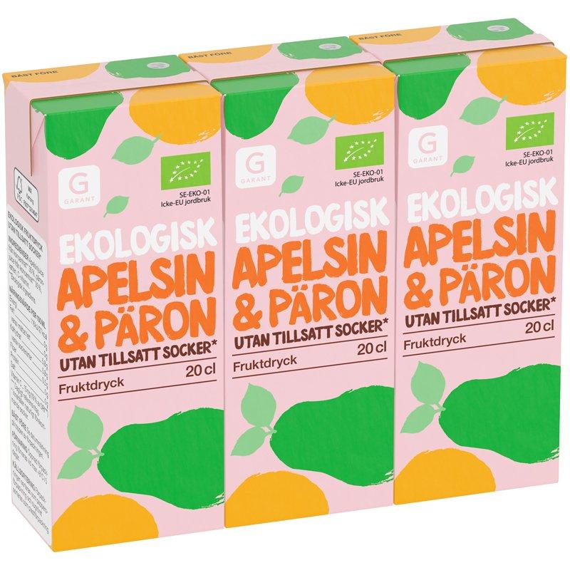 Fruktdryck Apelsin & Päron 3-pack - 20% rabatt