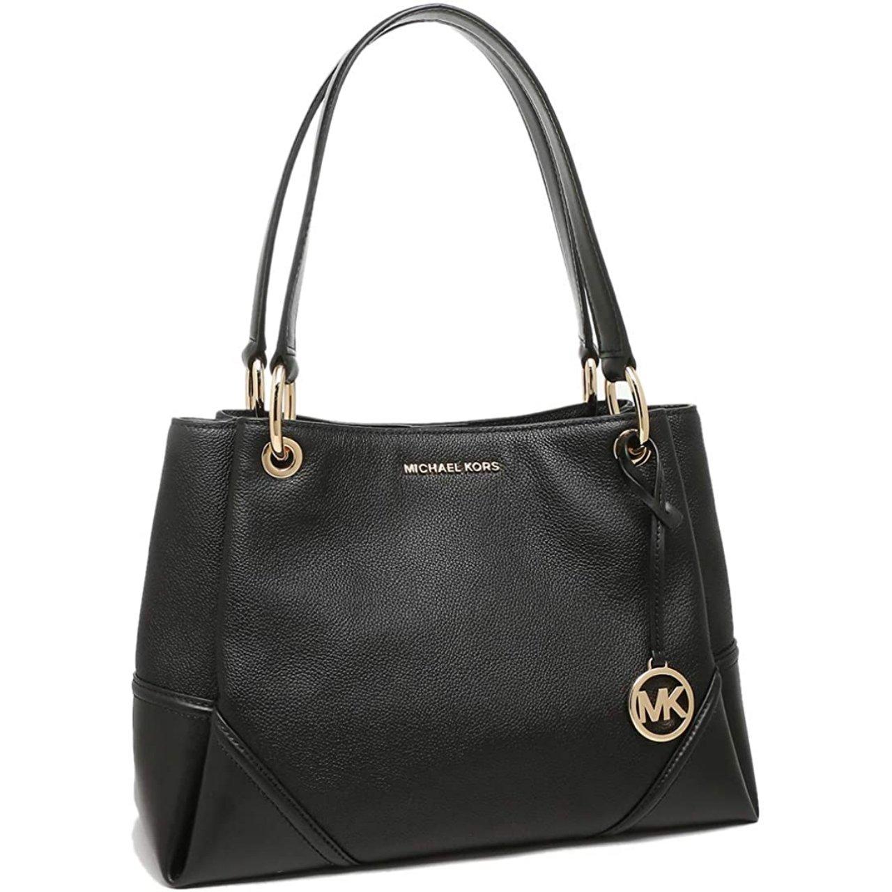 Michael Kors Women's Nicole Large Tote Bag Black MK30395