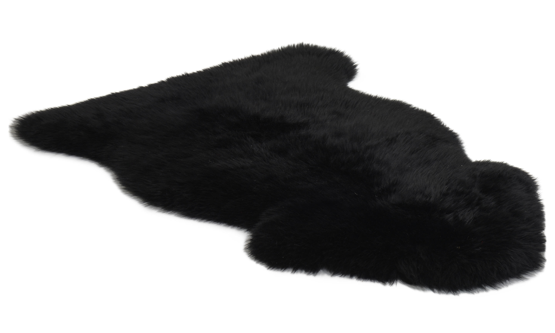 Langhåret saueskinn - svart