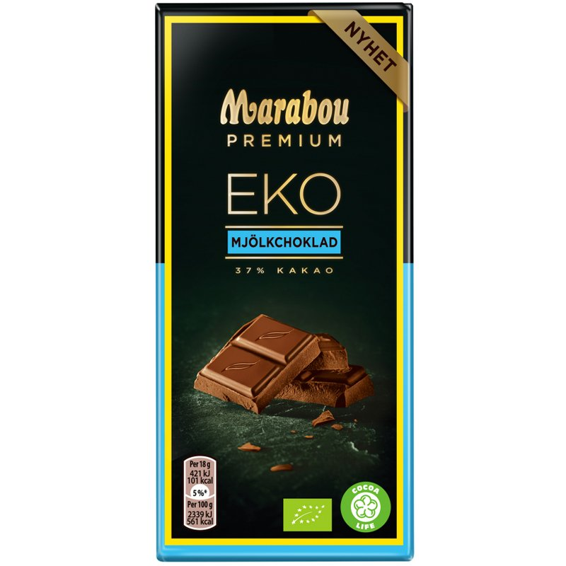 "Eko Choklad ""Premium Mjölkchoklad"" 90g - 50% rabatt"