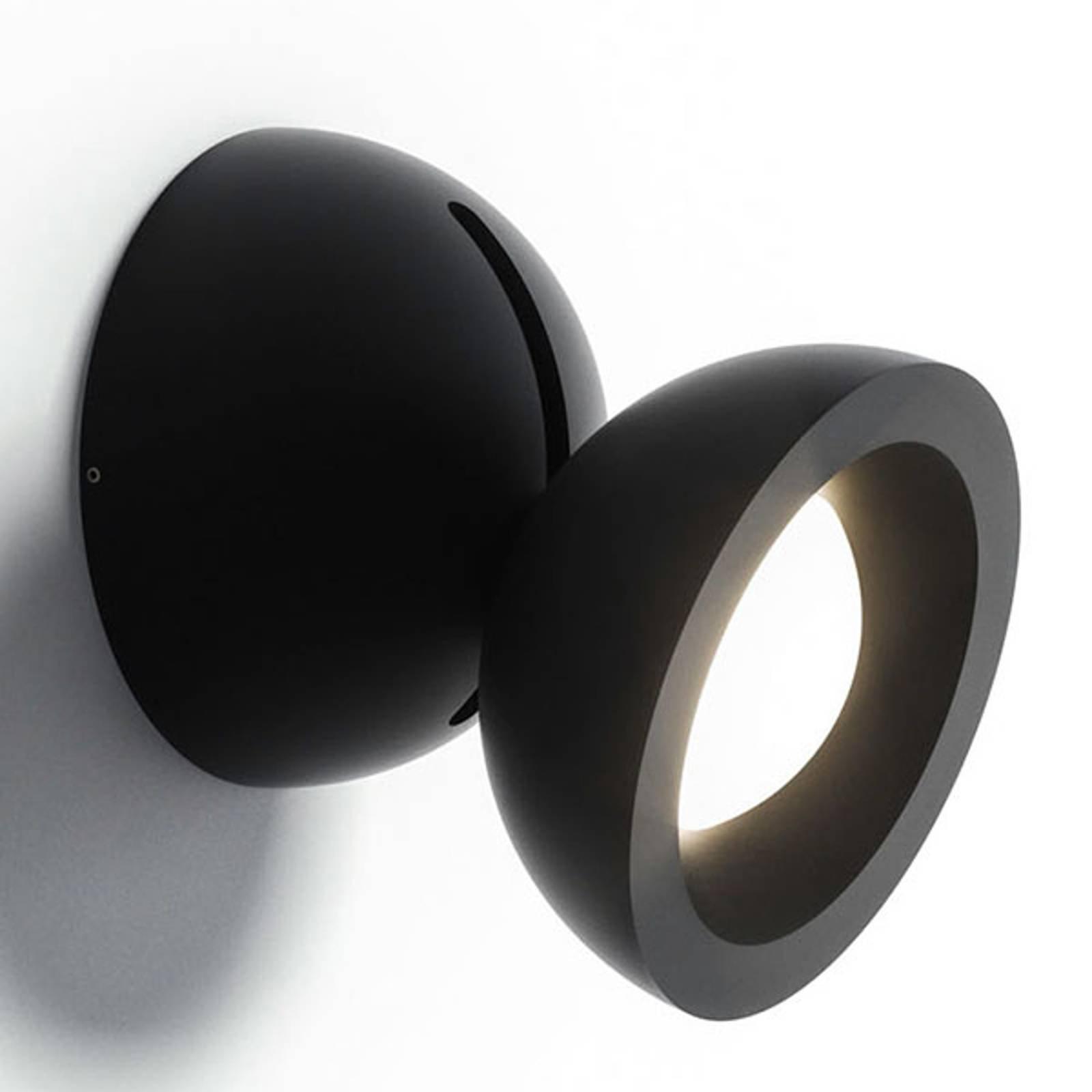 Axolight DoDot LED-vegglampe, svart 15°