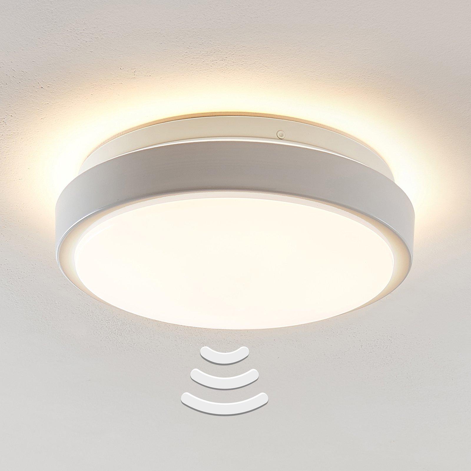 Lindby Camille LED-sensor-taklampe Ø26cm hvit