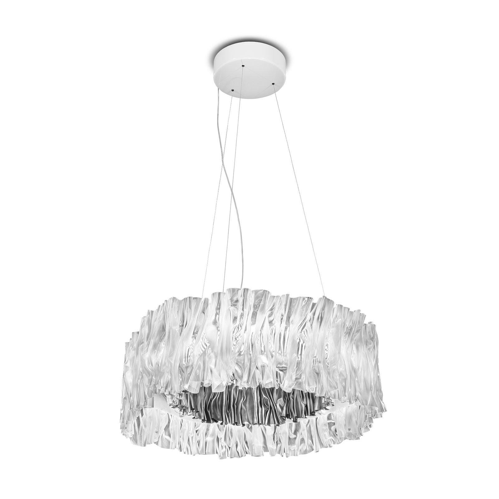 Slamp Accordéon LED-hengelampe sølv 3 000 K