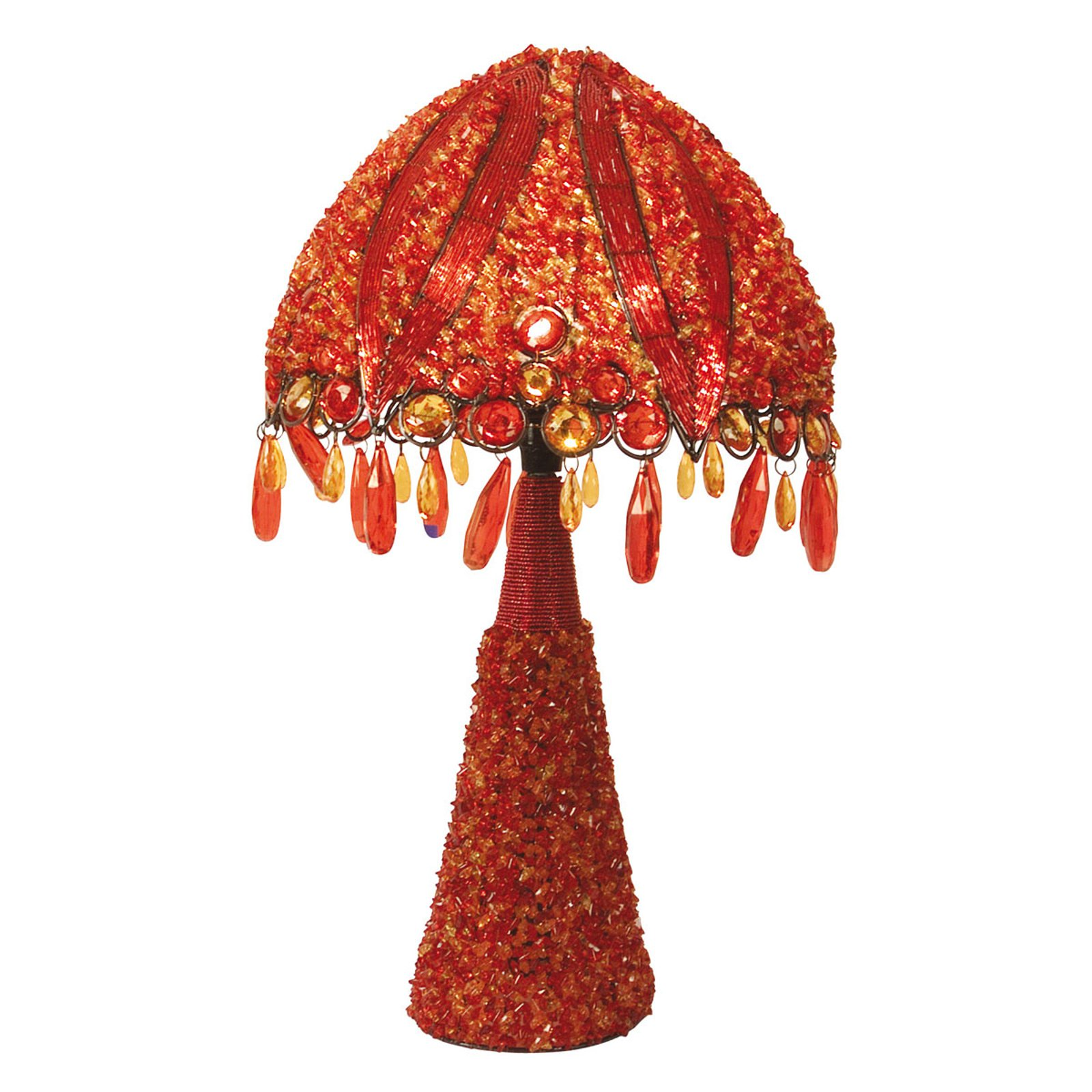 Bordlampe Perla, 53 cm oransje