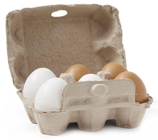 Kids Concept Bistro Egg 6-pack, Natur