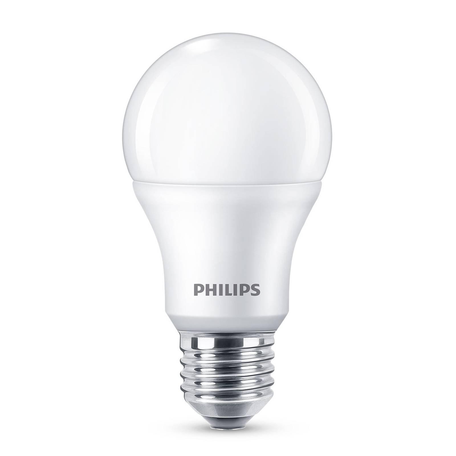 Philips E27 LED-pære A60 8 W 2 700 K matt 4-pakk