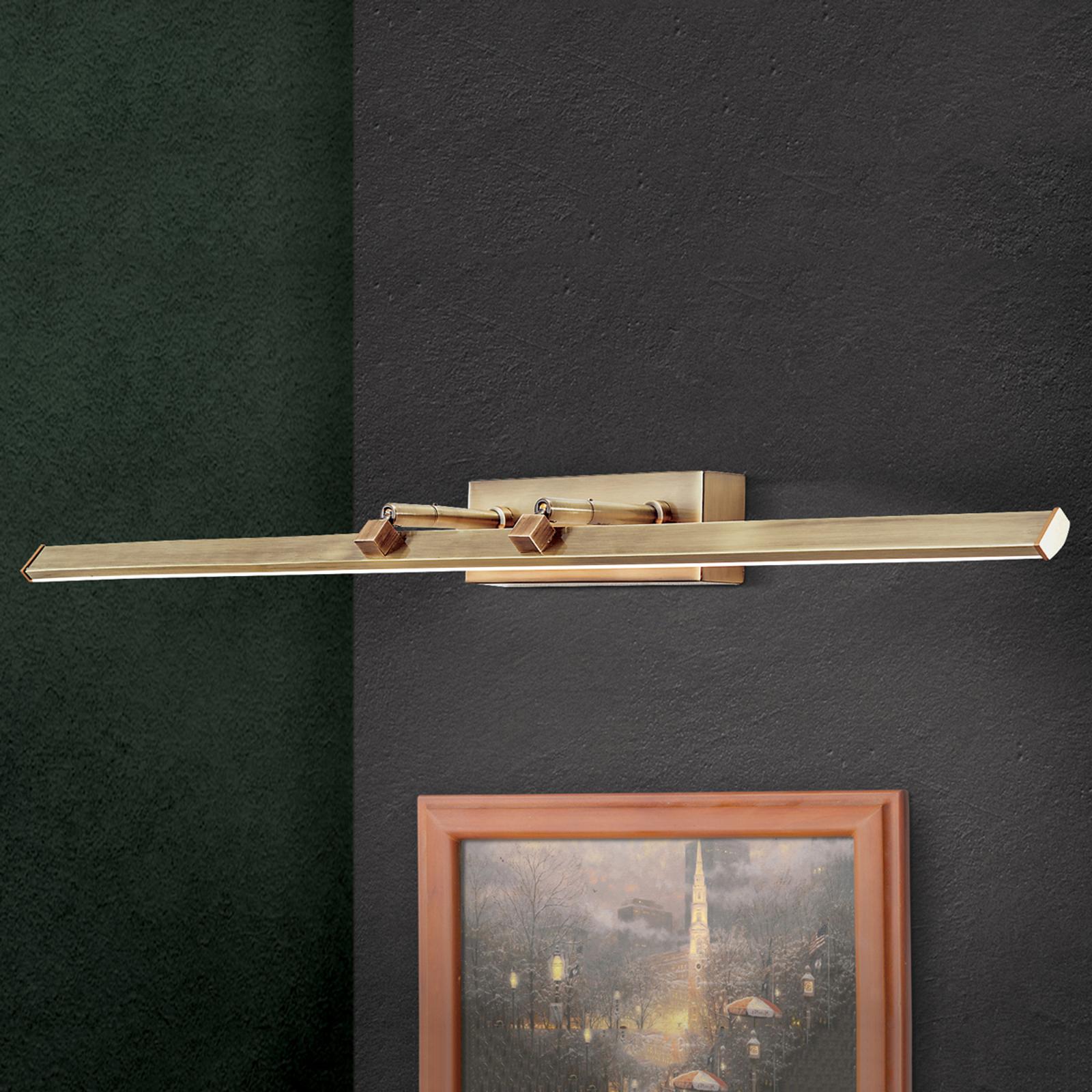 Suren-LED-tauluvalaisin, vanhamessinki, 79,5 cm