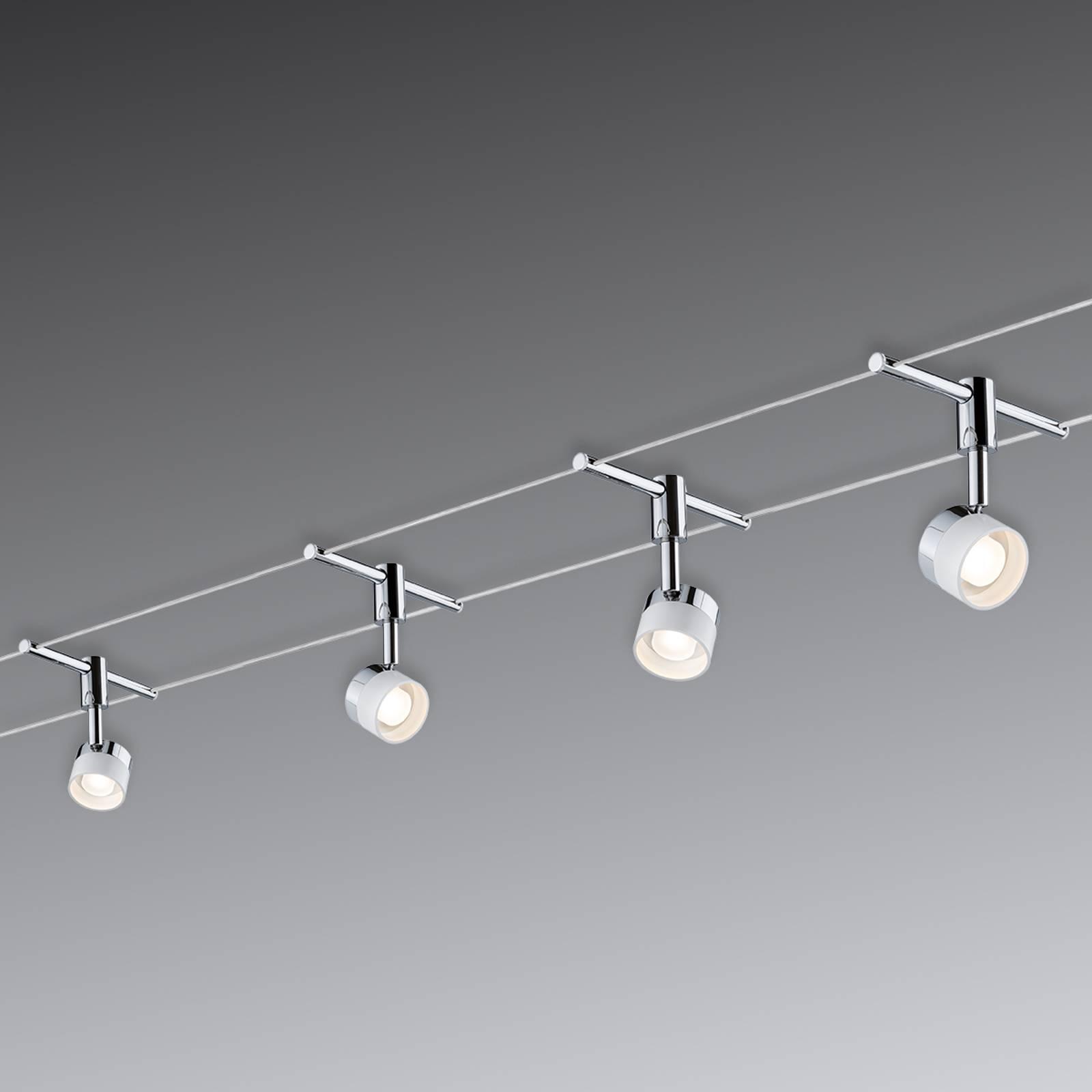 4 pyöreää valaisinta: LED-vaijerijärjestelmä Stage