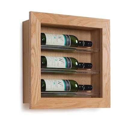 3 Flaskers Vinstativ Display til vegg