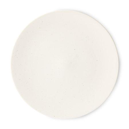 Kyoto ceramics Stor japansk Mattallrik White speckled
