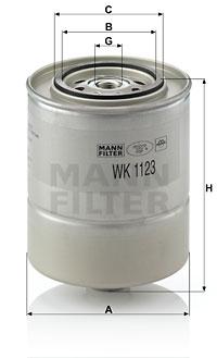 Polttoainesuodatin MANN-FILTER WK 1123