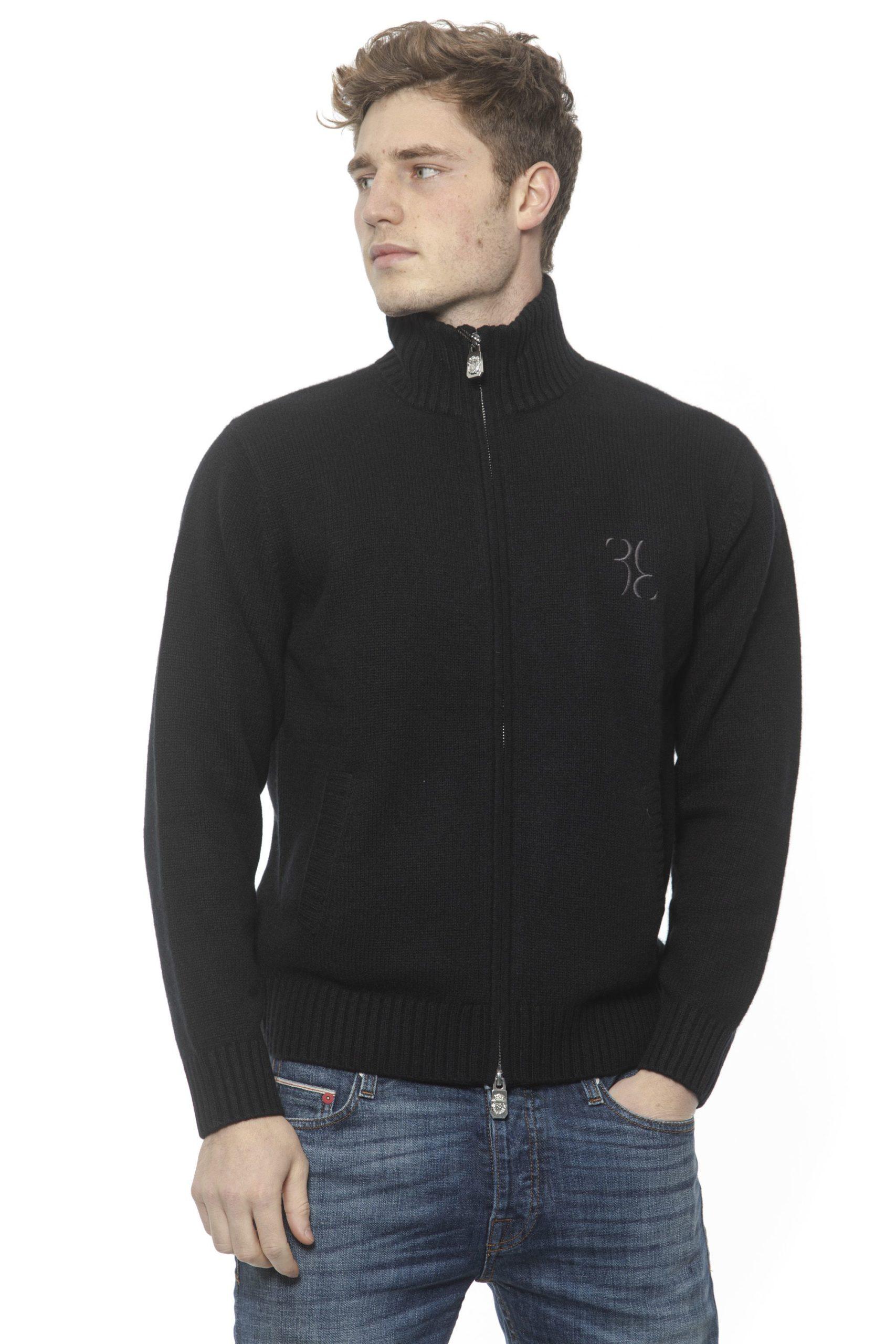 Billionaire Italian Couture Men's Nero Sweater Black BI1313395 - L
