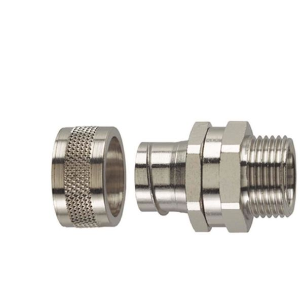 Hellermann Tyton 166-31100 Metallkobling utvendig gjenge, PCS-SM (M), vribar Nominell Ø 10 mm, M12