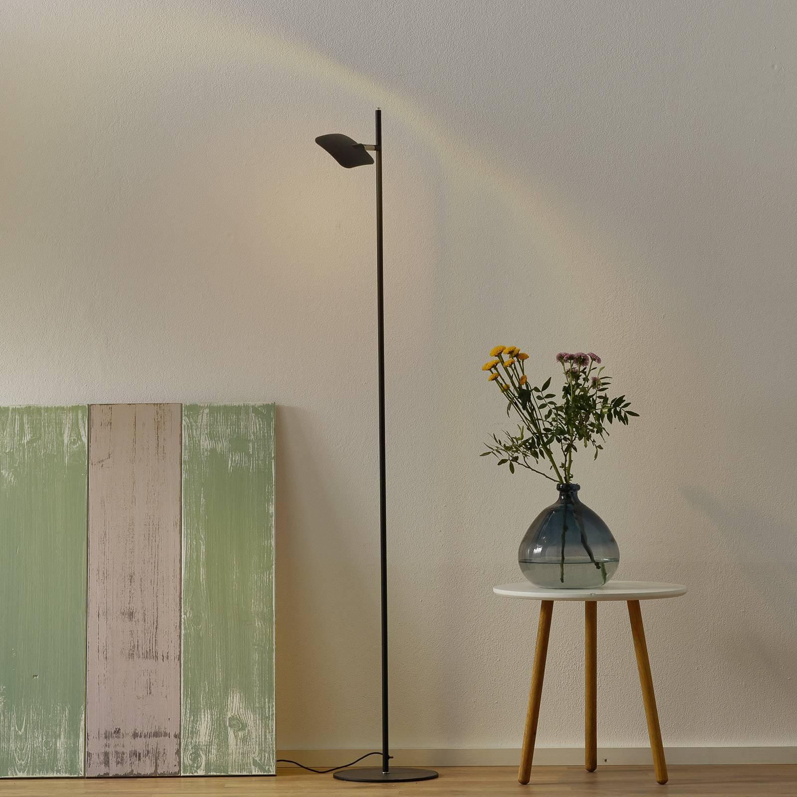 LED-gulvlampe Raggio, 1 lyskilde, svart