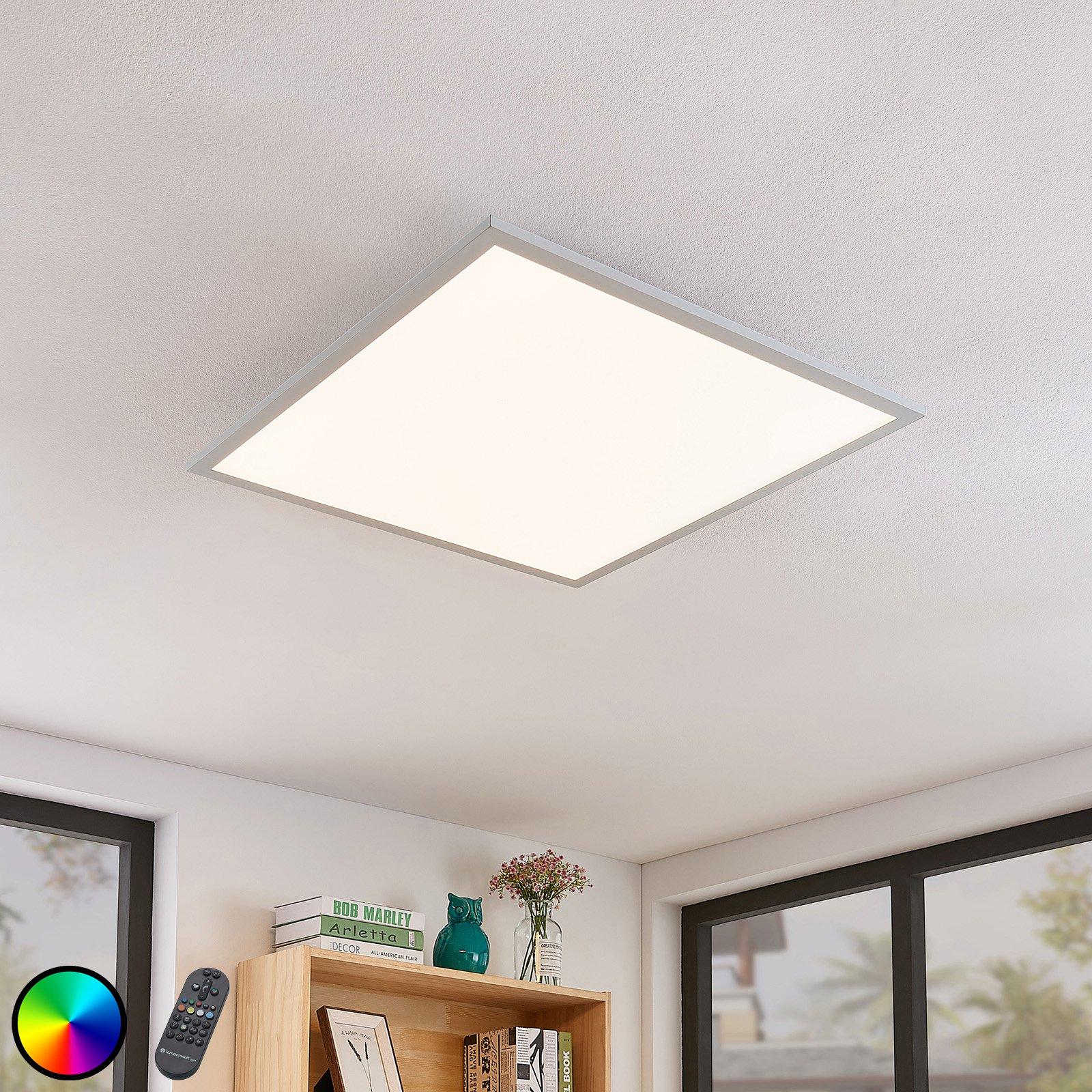 LED-taklampe Milian med fjernkontroll 62x62cm