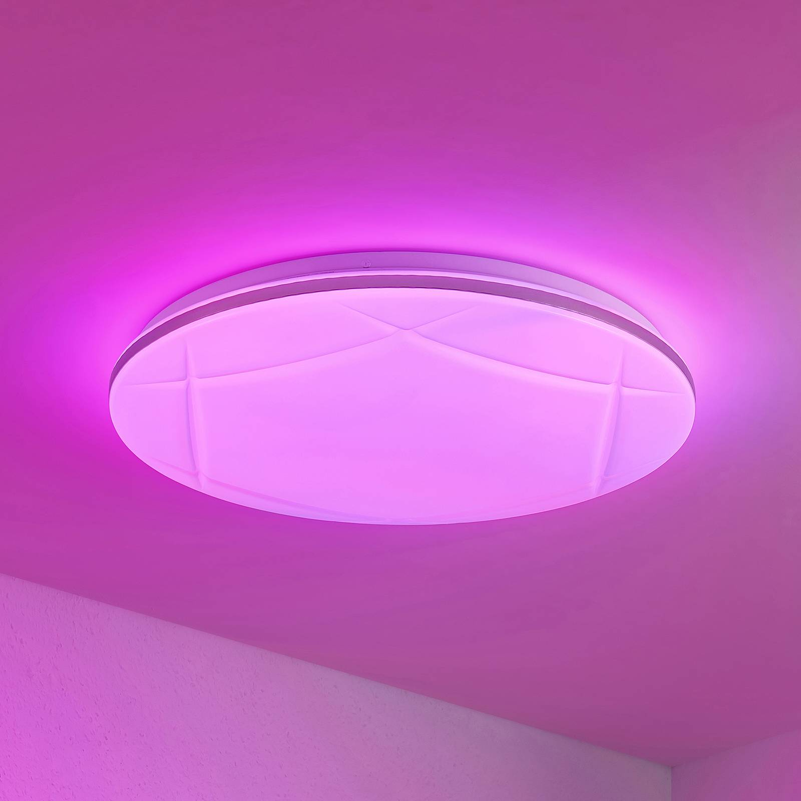 Lindby Favoria -LED-kattovalaisin RGBW, CCT, 49 cm