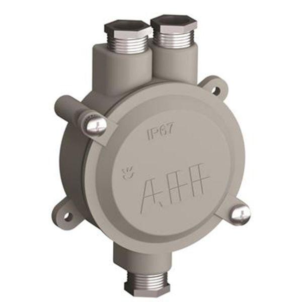 ABB 2CMA136532R1000 Kevytmetallikotelo Kierre 18,6, alumiinia 2 oikealle, 1 vasemmalle