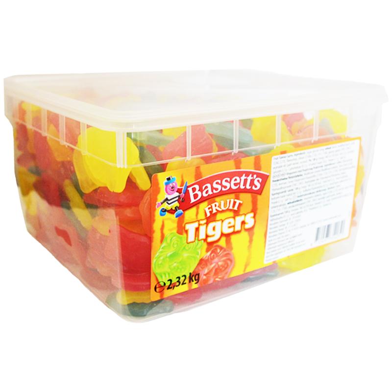 "Hel Låda Godis ""Fruit Tigers"" 2,32kg - 59% rabatt"
