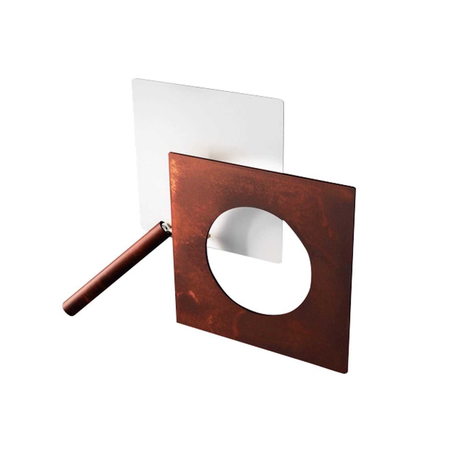 ICONE-LED-seinälamppu Petra 21.L valkoinen/ruoste