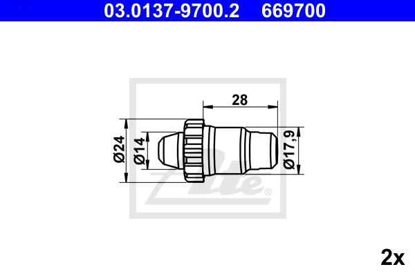 Tarvikesarja, seisontajarru ATE 03.0137-9700.2