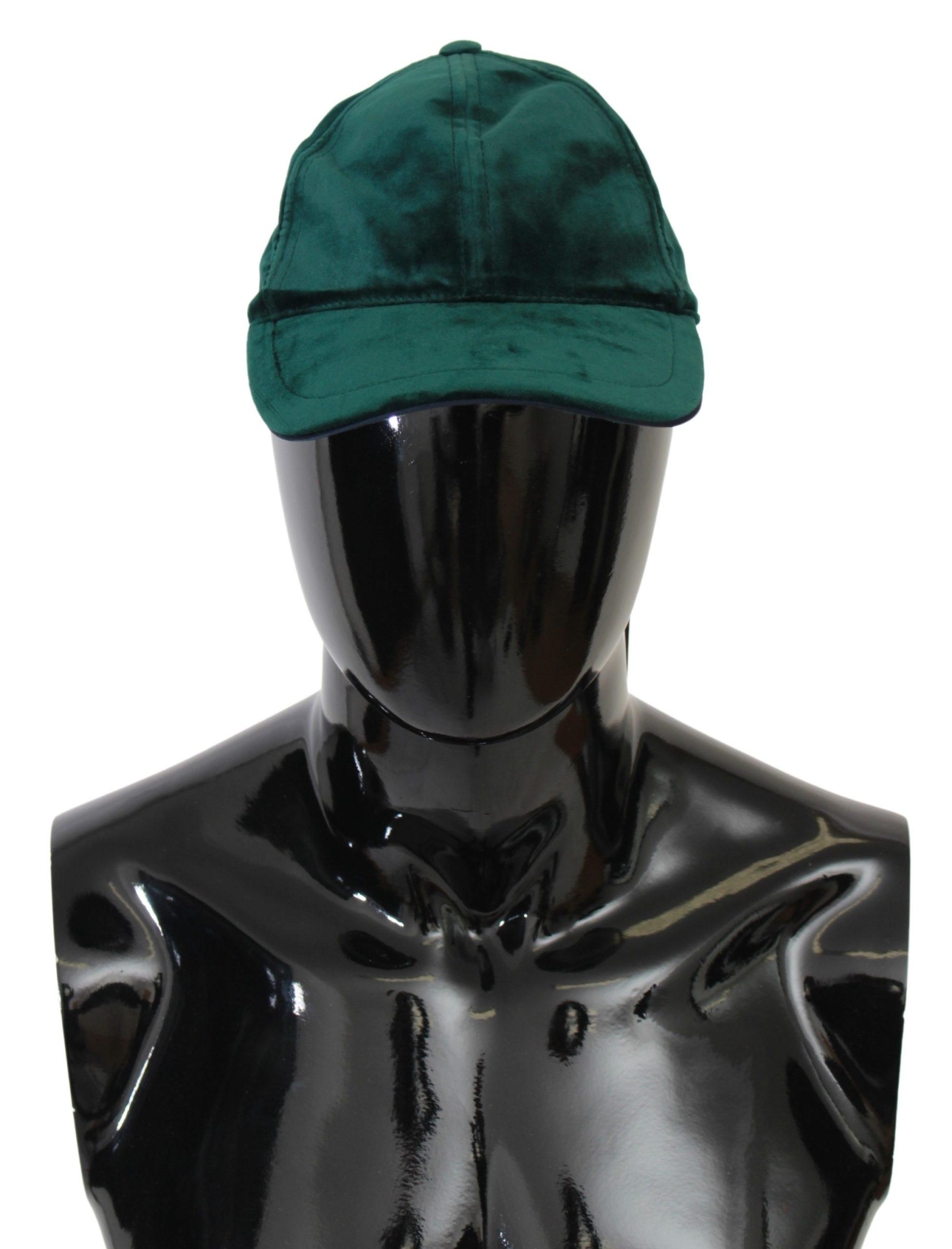 Dolce & Gabbana Men's Solid Baseball Cotton Cap Green HAT20035 - 57 cm|S