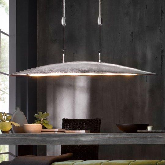 Colmar-LED-riippuvalaisin, pituus 131 cm, nikkeliä