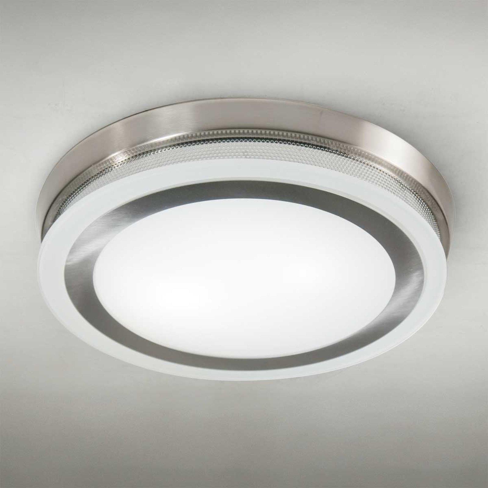 Rund taklampe RING 9115, stål, 43 cm