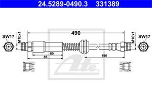 Jarruletku, Taka-akseli, VW CADDY Minibus, minivan III, CADDY Skåp/stor limousine III, 2K0 611 775 K, 2K0 611 775 L, 2K0 611 775 S, 2K0