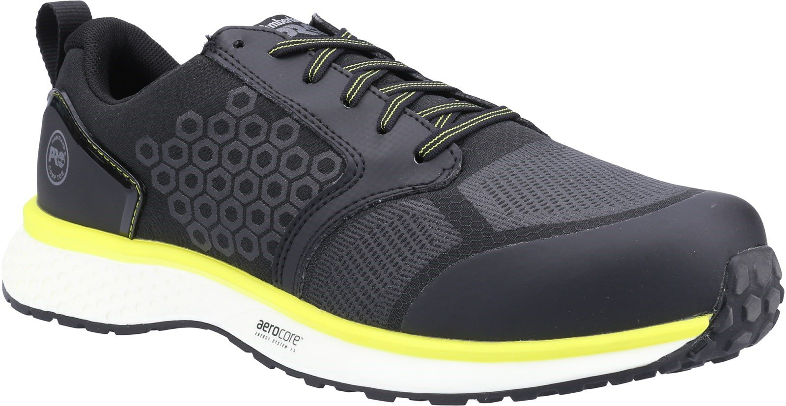 Timberland Pro Men's Reaxion Composite Safety Trainer Various Colours - Black/Yellow 6