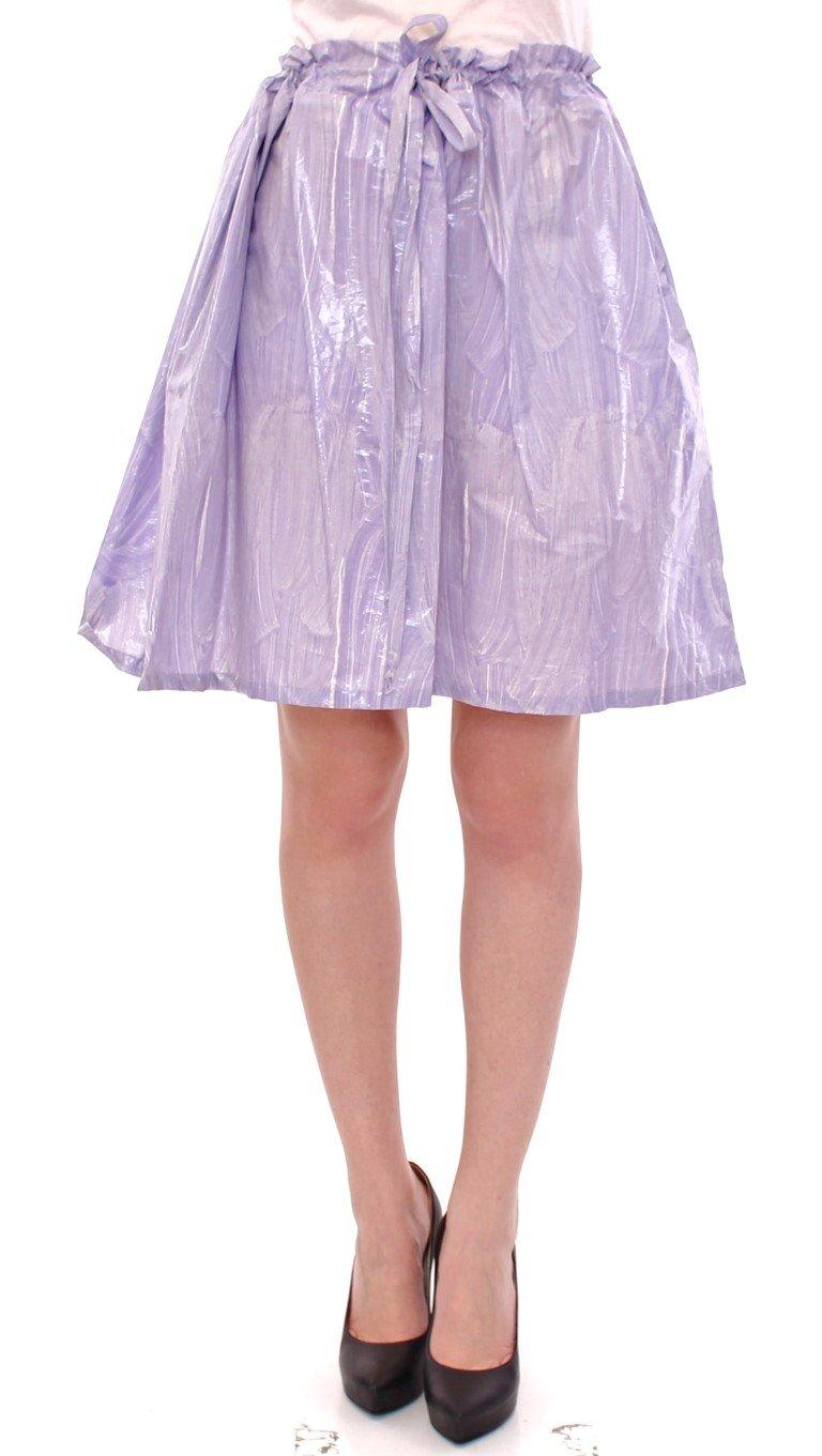 Licia Florio Women's Waist Strap A-Line One Skirt Purple GSS10162