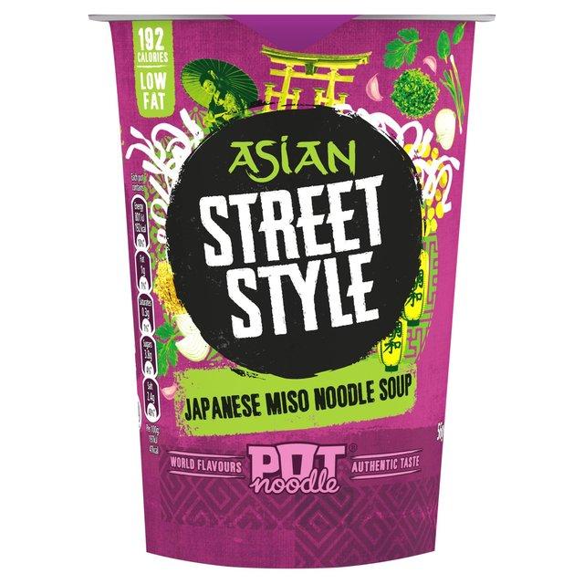 Pot Noodle Asian Street Style Miso Noodle Soup 56g