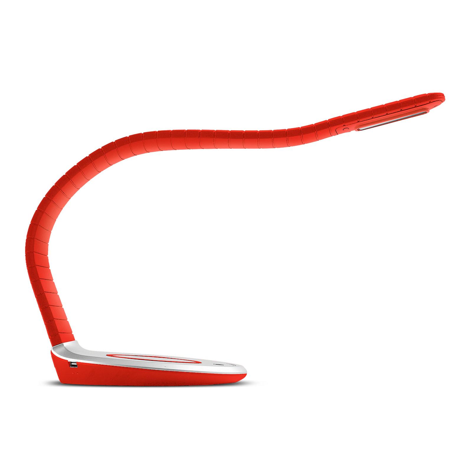 TRAE Luni LED-pöytälamppu, Qi, 5 000 K punainen
