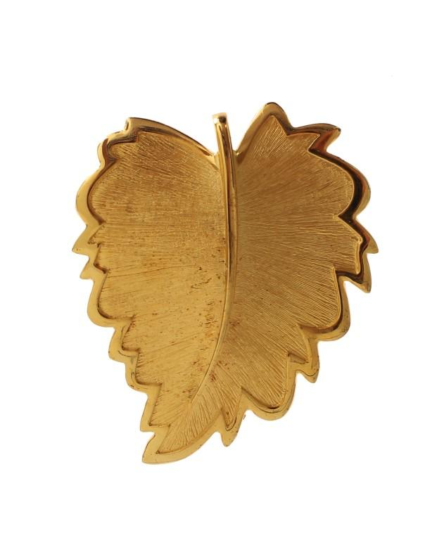 Dolce & Gabbana Women's Plated Brass Leaf Brooch Gold SIG19562