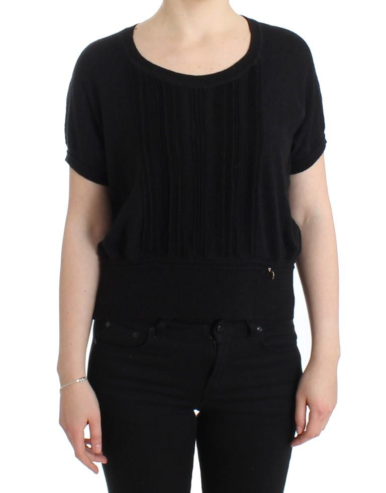 Cavalli Women's Short Sleeved Jumper Black SIG11608 - IT48 XXL