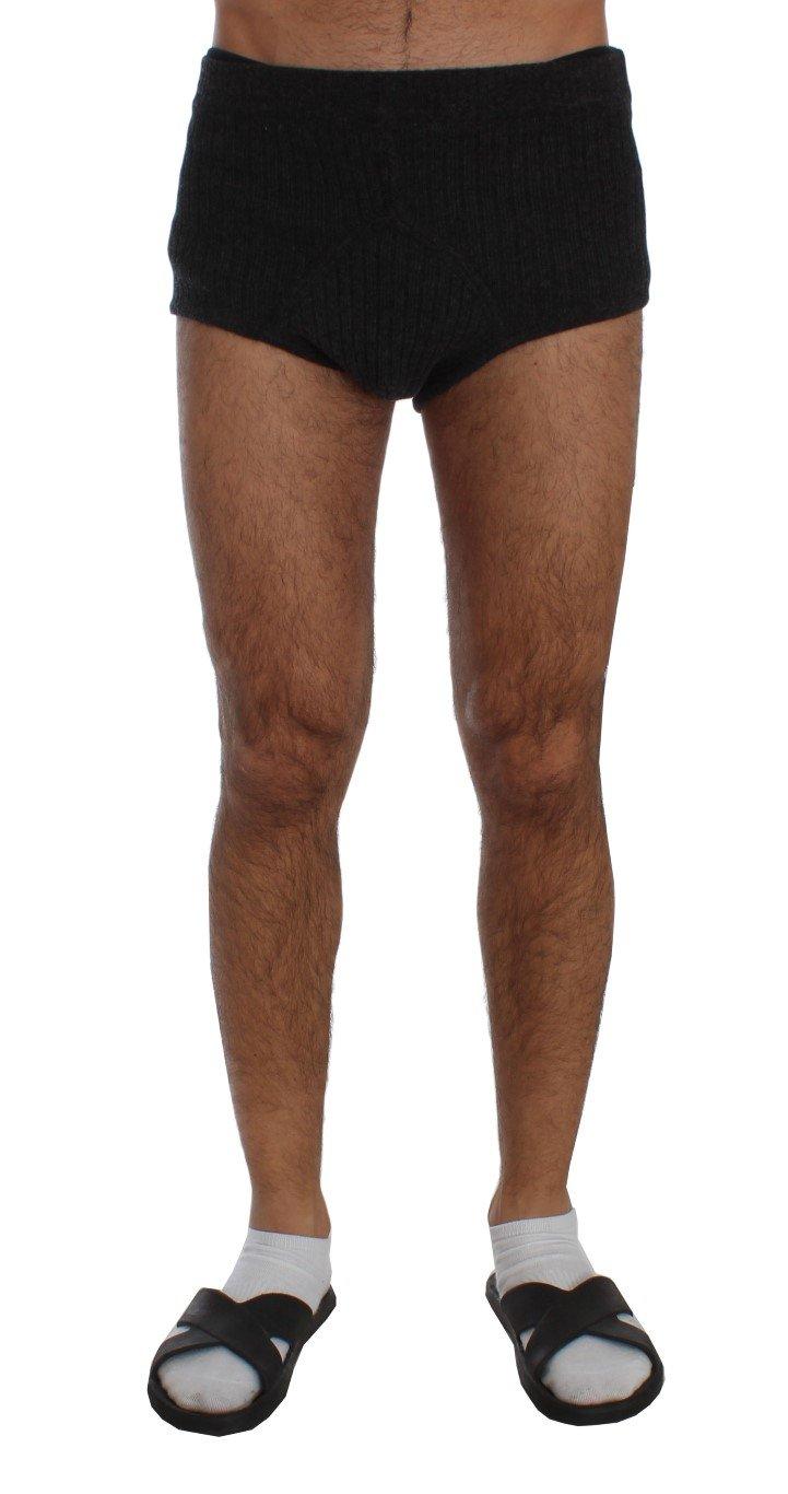 Dolce & Gabbana Men's Wool Mini Stretch Shorts Gray SIG50617 - L