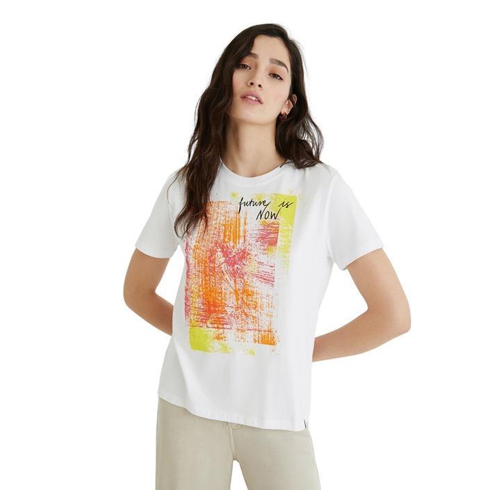 Desigual Women's T-Shirt White 270496 - white S